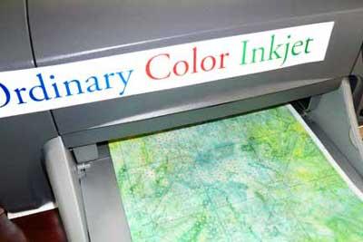 Use an ordinary color inkjet printer