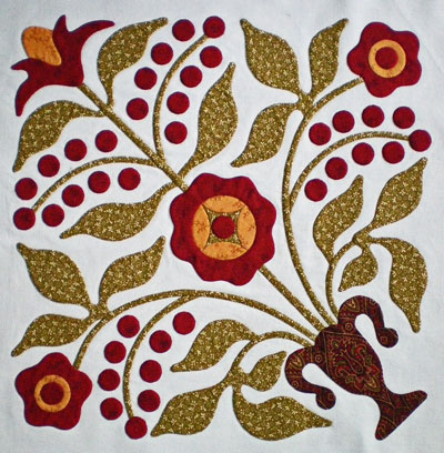 Lily Rosenberry quilt block