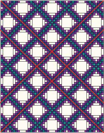 Triple Irish Chain quilt made with two blocks