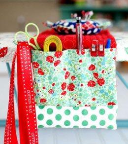 Make an ironing board organizer to keep your tools close at hand