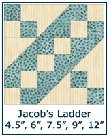 Jacob's Ladder quilt block tutorial