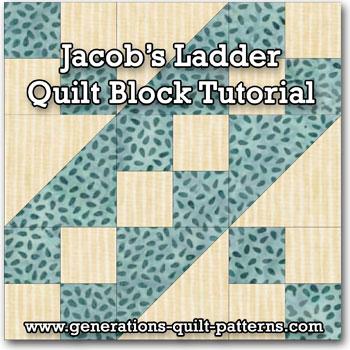 Jacob's Ladder quilt block tutorial