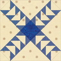 Jacob's Ladder quilt block variation