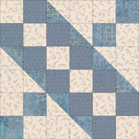 Easy Jacob's Ladder Quilt Block Instructions for 4.5