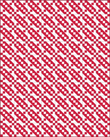 Jacob's Ladder quilt pattern- 2 color traditional