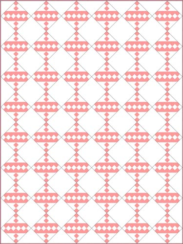 Jacob's Ladder quilt pattern- 2 color traditional with alternate block