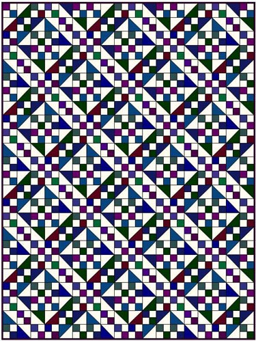 Jacob's Ladder quilt pattern-many fabrics