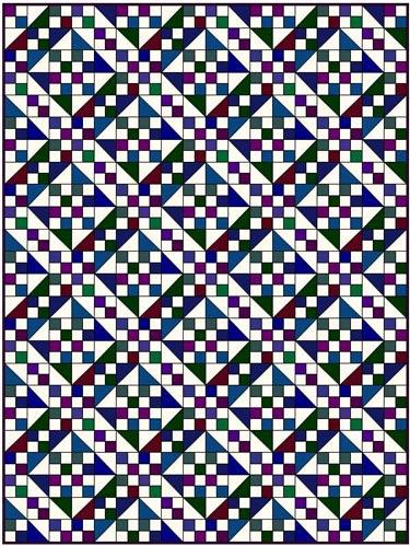 Jacob's Ladder quilt pattern-many fabrics