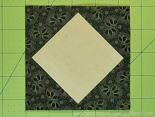 The finished center square in a square.