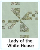 Lady of the White House quilt block tutorial
