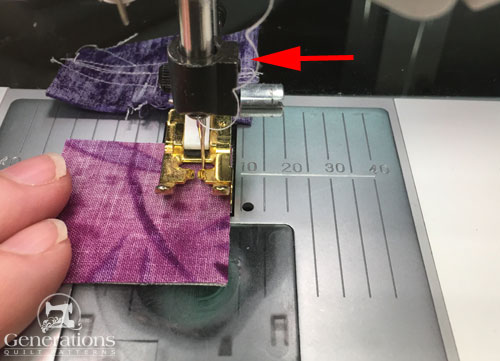 Sew 1a to the Center patch