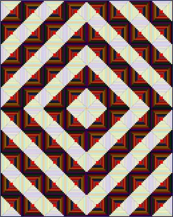 Log Cabin Quilt - Barn Raising setting