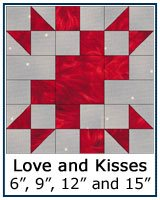 Love and Kisses quilt block tutorial