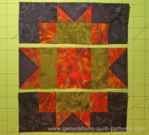 Stitch units into rows