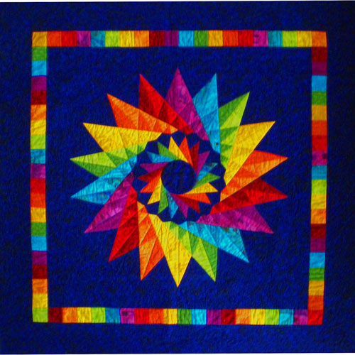 Mariner's Compass Quilt, pieced and quilted by Julie Baird
