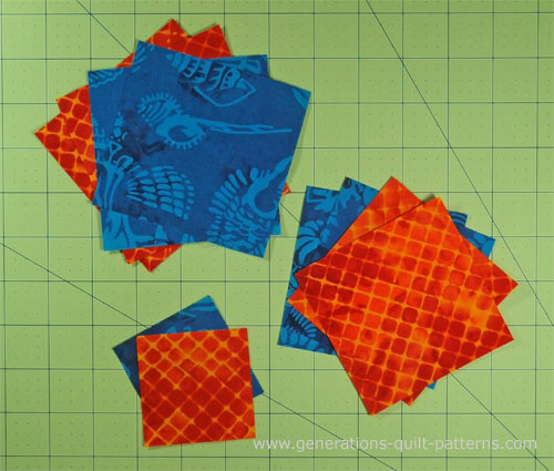 Cut patches for your Massachusetts quilt block