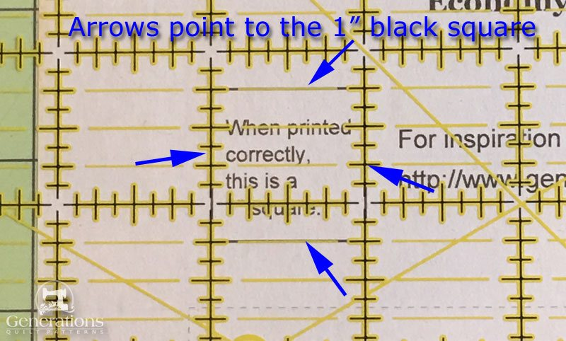 Measure the graphic on the printed pattern to confirm it printed correctly