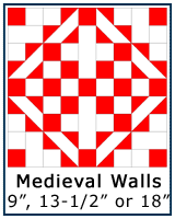 Medieval Walls quilt block tutorial