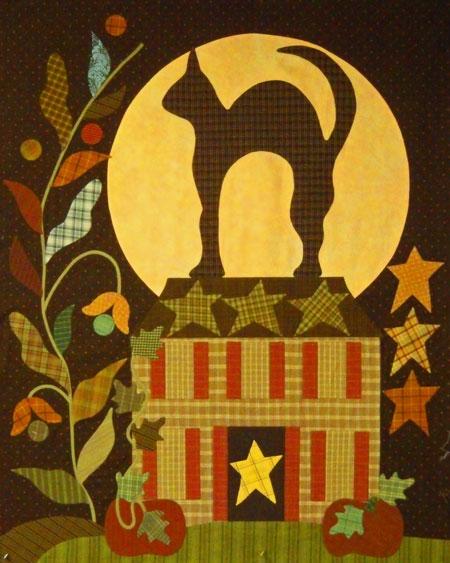 Midnight Silhouette, quilt pattern by Blackbird Designs