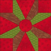 An alternative Dutchman's Puzzle quilt block