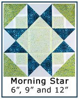 Morning Star Quilt Block Tutorial