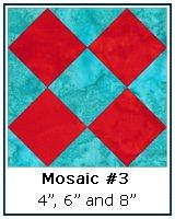 Mosaic #3 Quilt Block Tutorial
