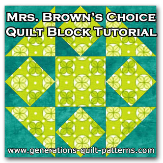 Mrs. Brown's Choice quilt block tutorial