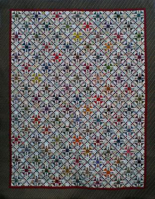 My Oh My Gosh quilt, pieced/quilted by Julie Baird