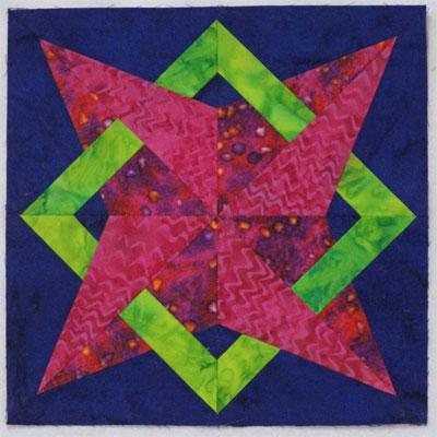 Nells' Star quilt block