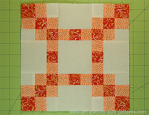 The finished New Irish Chain quilt block