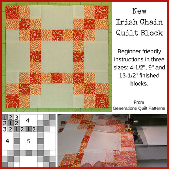 New Irish Chain quilt block tutorial