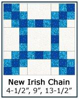 New Irish Chain quilt block