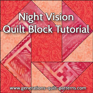 Night Vision quilt block instructions
