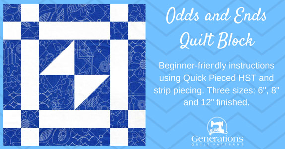 The Odds and Ends quilt block tutorial begins here