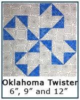 Oklahoma Twister quilt block tutorial