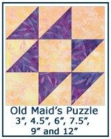 Old Maid's Puzzle quilt block tutorial