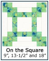 On the Square quilt block tutorial