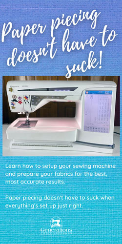 Perfect Your Paper Piecing Skills - Fabric prep and sewing machine setup