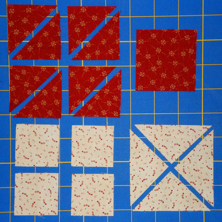 Paper piecing instructions - cutting fabric patches