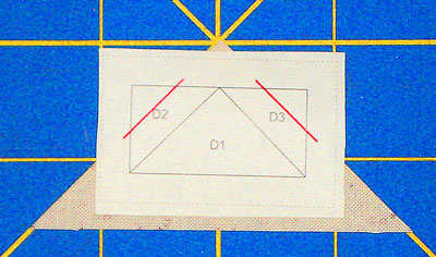Foundation Paper Piecing Instructions - place the first piece