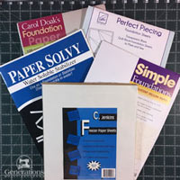 Click here for my review of 6 different paper piecing papers