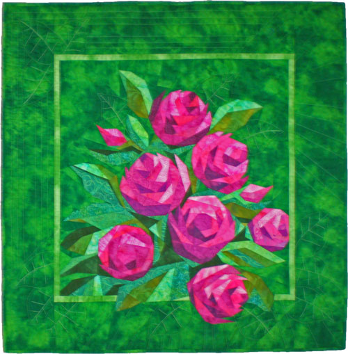 English Roses, a paper pieced quilt