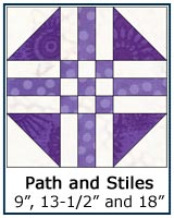 Path and Stiles quilt block tutorial