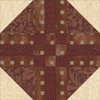 Path and Stiles quilt block aka Shoofly