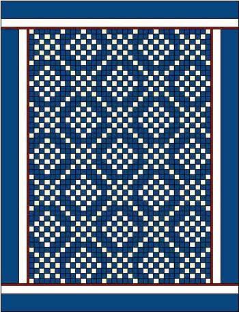 Long horizontal quilt borders