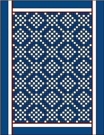 Long vertical quilt borders