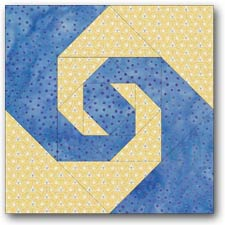 Pig's Tail quilt block