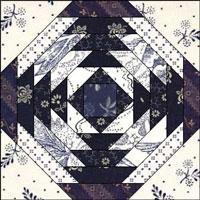 Pineapple quilt block design