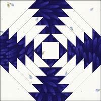 Pineapple quilt block, dark 'X'