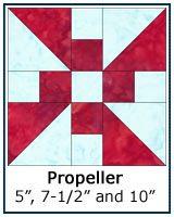 Propeller quilt block tutorial